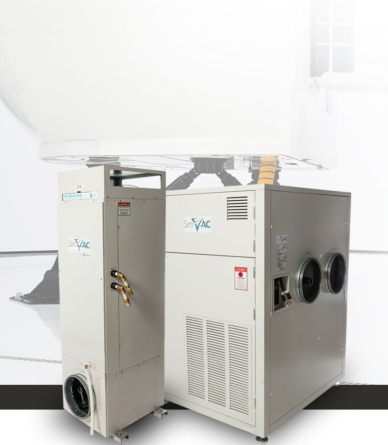 Flight simulator Ventilation and air conditioning system
